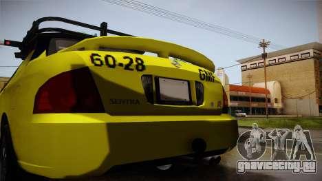 Nissan Sentra Taxi для GTA San Andreas вид сверху
