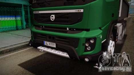 Volvo FMX Самосвал для GTA San Andreas вид сбоку