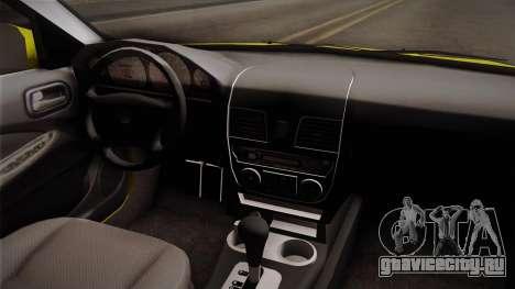 Nissan Sentra Taxi для GTA San Andreas вид изнутри