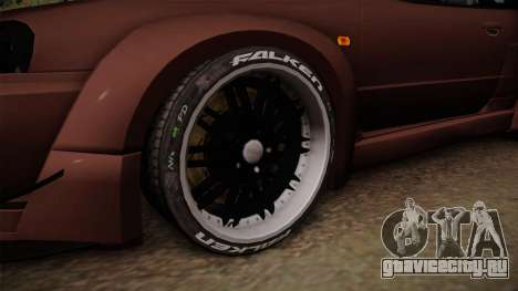 Nissan Skyline GT-R R34 Rocket Bunny для GTA San Andreas вид сзади