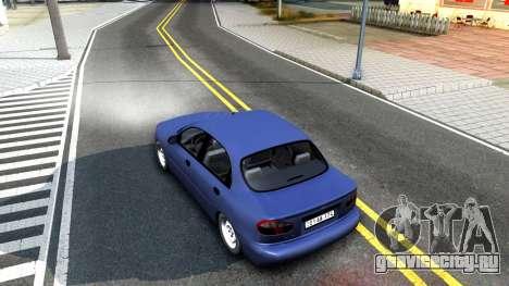 Daewoo Lanos для GTA San Andreas вид сзади