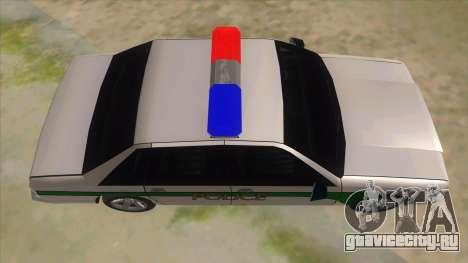 1992 Declasse Premier Angel Pine PD для GTA San Andreas вид изнутри