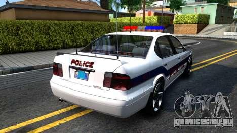 Declasse Merit Metropolitan Police 2005 для GTA San Andreas вид сзади слева