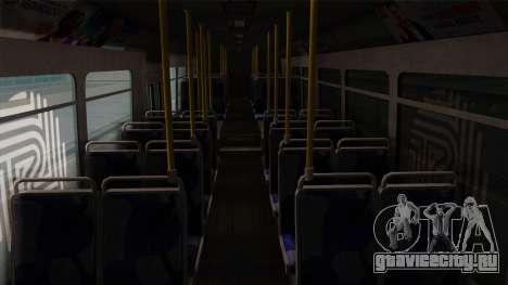 GTA V Transit Bus для GTA San Andreas вид изнутри