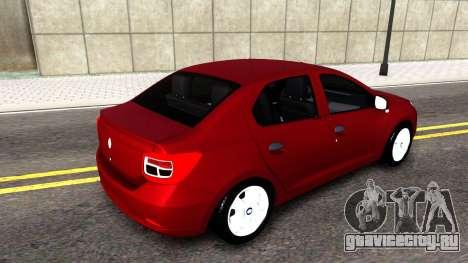 Renault Symbol 2013 для GTA San Andreas вид слева