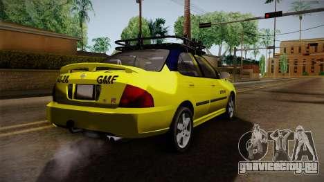 Nissan Sentra Taxi для GTA San Andreas вид сзади слева