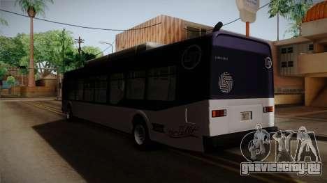 GTA V Transit Bus для GTA San Andreas вид сзади слева