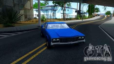 VC Xbox Sabre для GTA San Andreas вид сзади
