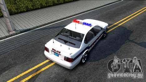 Declasse Merit Metropolitan Police 2005 для GTA San Andreas вид сзади