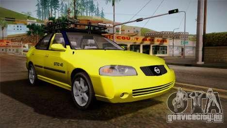 Nissan Sentra Taxi для GTA San Andreas вид справа
