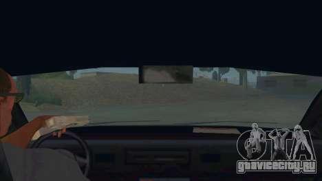 New Taxi для GTA San Andreas вид изнутри