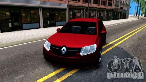 Renault Symbol 2013 для GTA San Andreas вид сзади