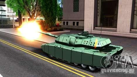 Leopard 2A7 для GTA San Andreas вид изнутри