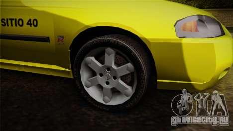 Nissan Sentra Taxi для GTA San Andreas вид сзади