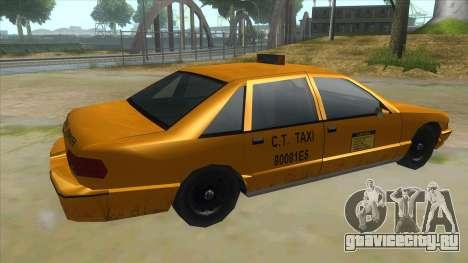 New Taxi для GTA San Andreas вид справа