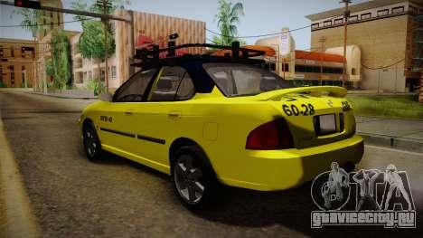 Nissan Sentra Taxi для GTA San Andreas вид слева