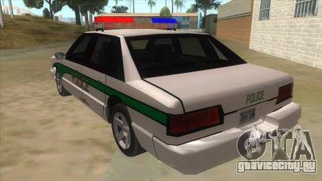 1992 Declasse Premier Angel Pine PD для GTA San Andreas вид сзади слева