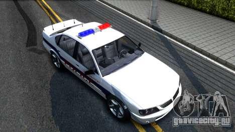 Declasse Merit Metropolitan Police 2005 для GTA San Andreas вид справа