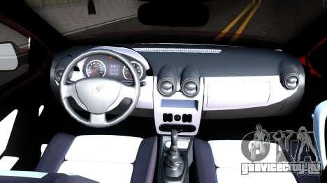 Renault Symbol 2013 для GTA San Andreas вид изнутри