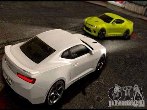 2017 Chevrolet Camaro SS GTA SA для GTA San Andreas вид сзади слева