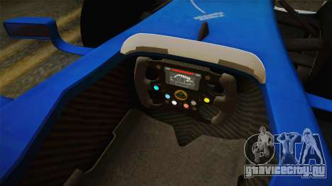 F1 Lotus T125 2011 v2 для GTA San Andreas вид изнутри