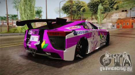 Lexus LFA Emilia The Purple of ReZero для GTA San Andreas вид справа