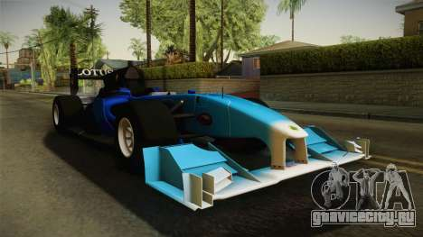 F1 Lotus T125 2011 v2 для GTA San Andreas вид справа