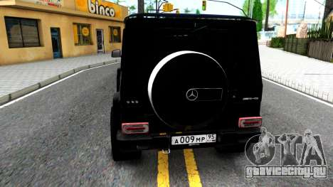 Mercedes-Benz G65 AMG для GTA San Andreas вид сзади слева