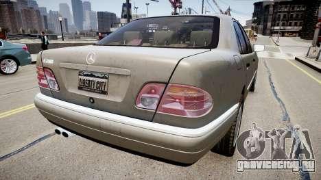 Mercedes E280 w210 1998 для GTA 4 вид сзади слева