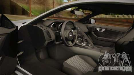 Jaguar F-Type SVR 2016 для GTA San Andreas вид изнутри