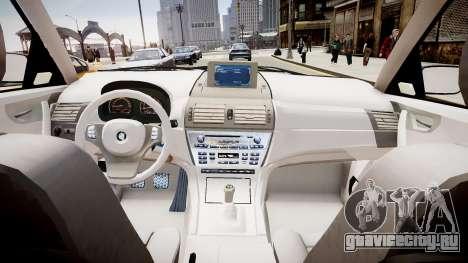 BMW X3 2.5Ti 2009 для GTA 4 вид изнутри