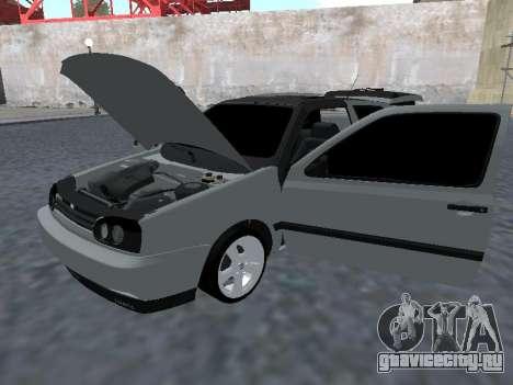 Volkswagen Golf 3 Armenian для GTA San Andreas вид сзади