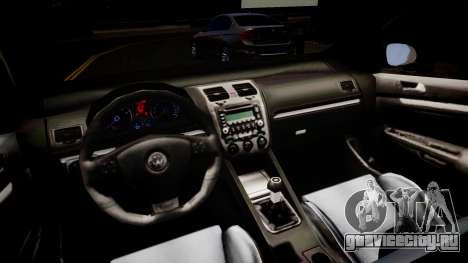 Volkswagen Golf R32 v1 для GTA 4 вид изнутри