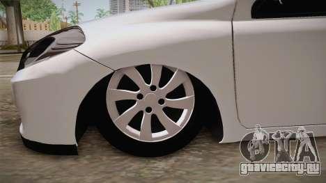 Renault Symbol для GTA San Andreas вид сзади