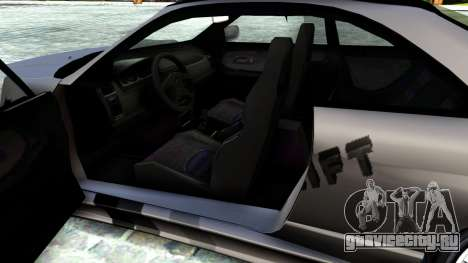 Nissan Skyline GT-R33 Fans Drift для GTA San Andreas вид изнутри