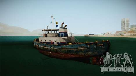 GTA 5 Buckingham Tug Boat для GTA San Andreas вид слева