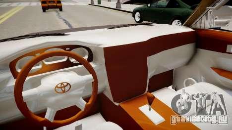 Toyota Land Cruiser VXR 1999 для GTA 4 вид изнутри