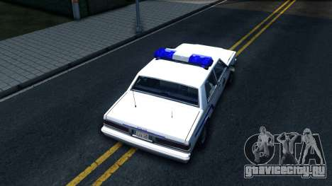 Vapid Stanier Hometown Police Department 1999 для GTA San Andreas вид сзади