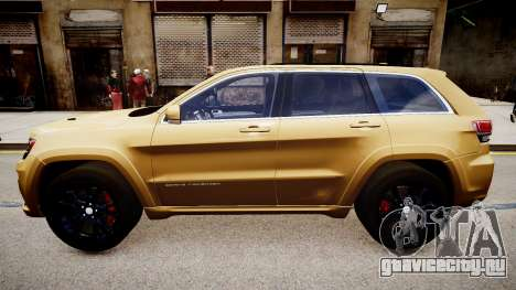 Jeep Grand Cherokee SRT8 2015 для GTA 4 вид слева