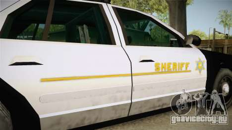 Ford Crown Victoria SHERIFF для GTA San Andreas вид сбоку