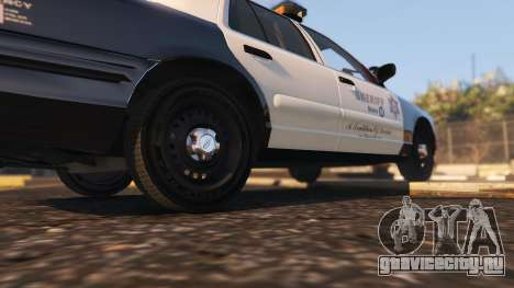 Ford Crown Victoria P71- LA Co. Sheriff 1999 для GTA 5 вид сзади справа