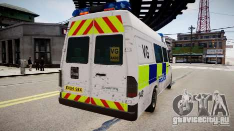 Mercedes-Benz Sprinter Police для GTA 4 вид слева