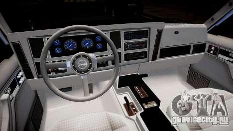 Jeep Cherokee 1992 для GTA 4 вид изнутри