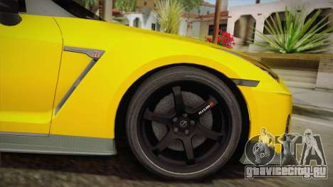 Nissan GT-R Nismo 2017 для GTA San Andreas вид сзади слева
