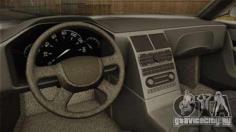 Sentinel PFR HD v1.0 для GTA San Andreas вид изнутри