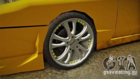 Elegy Taxi Sedan для GTA San Andreas вид сзади