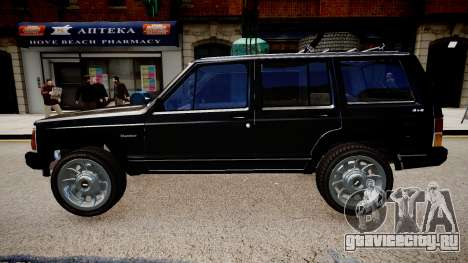 Jeep Cherokee 1992 для GTA 4 вид слева
