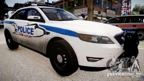 Tampa Airport Police для GTA 4 вид справа