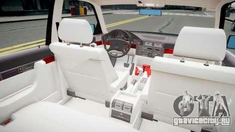 BMW 540i E34 для GTA 4 вид изнутри