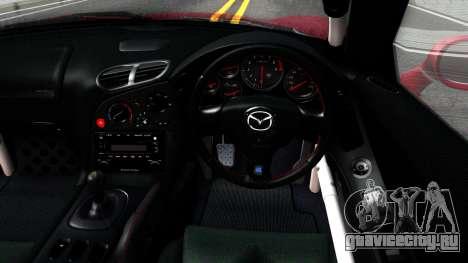 Mazda RX-7 Rocket Bunny для GTA San Andreas вид изнутри